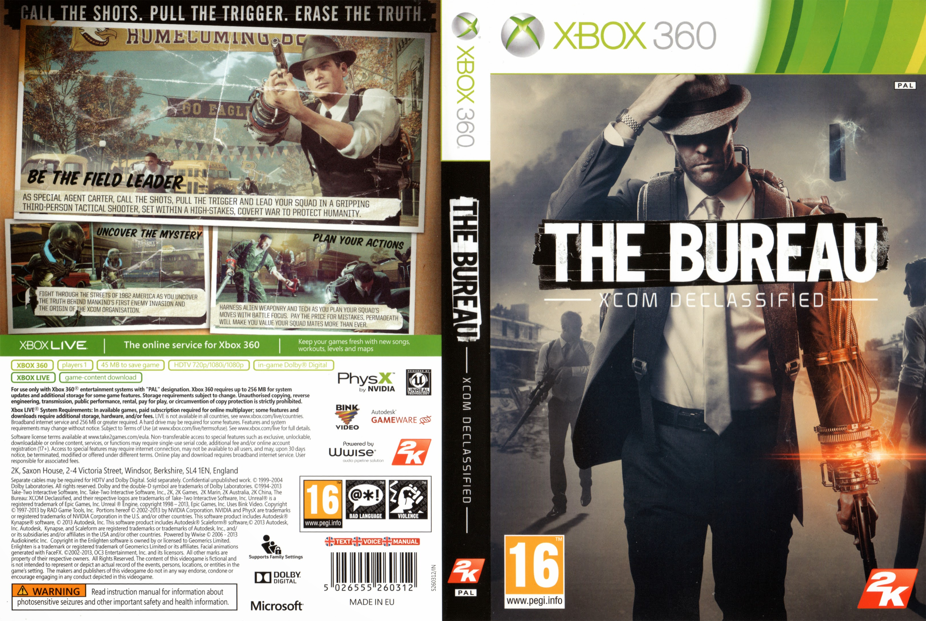 capa the bureau xcom declassified xbox 360 gamecover