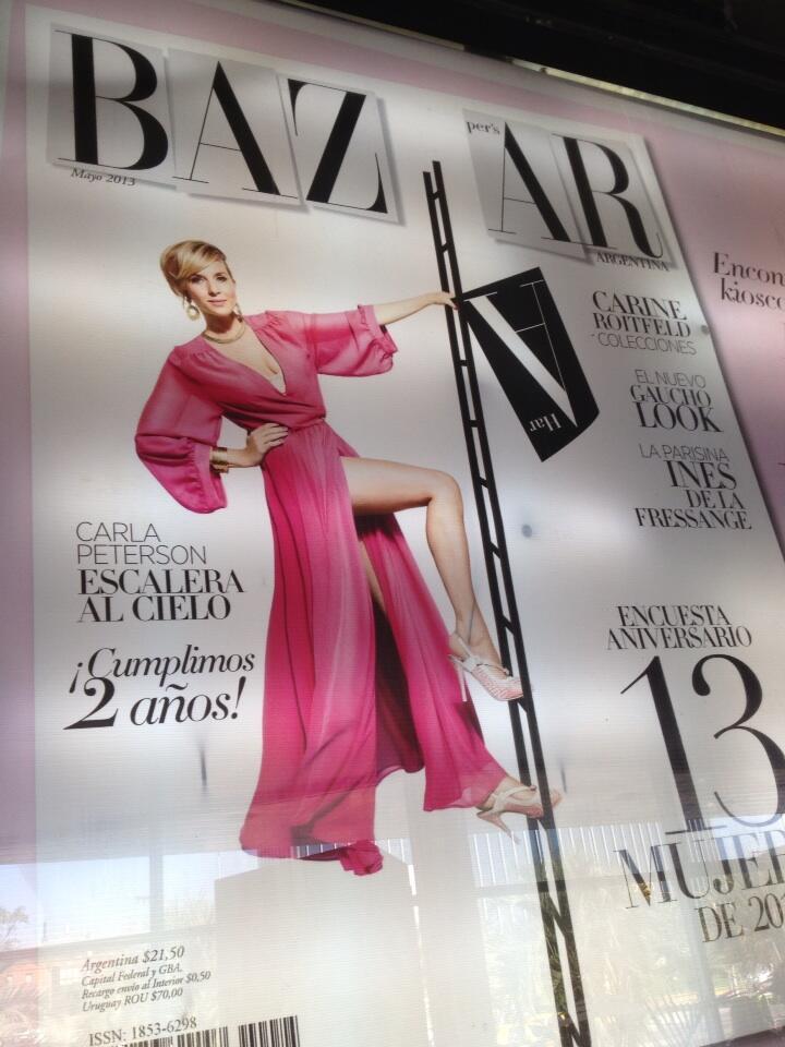 Foto tapa de la revista harper 39 s bazaar argentina con for Bazaar argentina