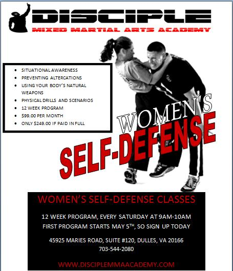 Self Defense Flyer Templates Women's self-defense