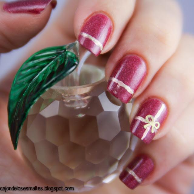catherine arley holografico nail art apliques dorados