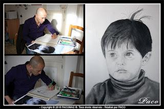 Paco artiste peintre dessin au crayon