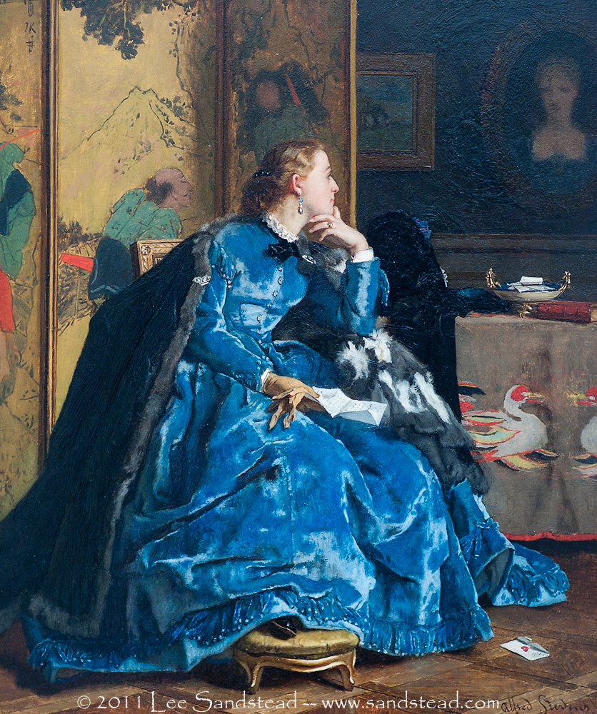 The Blue Dress by Alfred Stevens