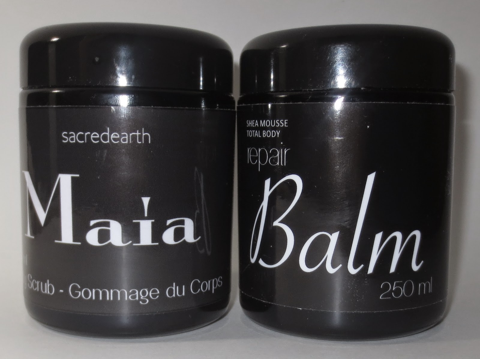 Sacred Earth Maia Body Scrub & Shea Mousse Total Body Repair Balm