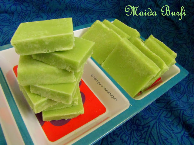 Maida Burfi in 20 mins | Easy Diwali Recipe