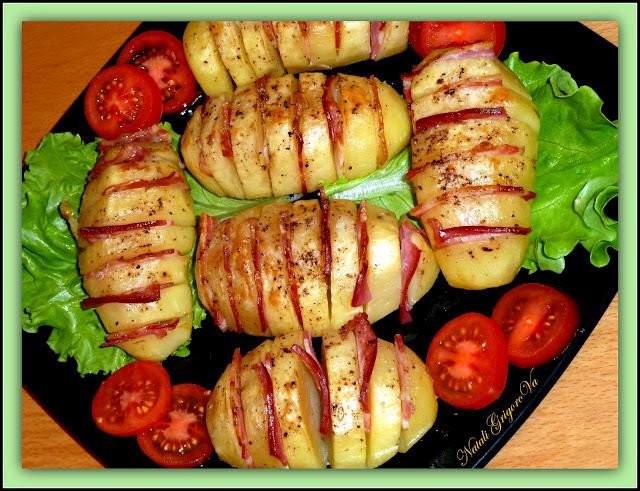 Картофель гармошка с сыром в духовке рецепт 4