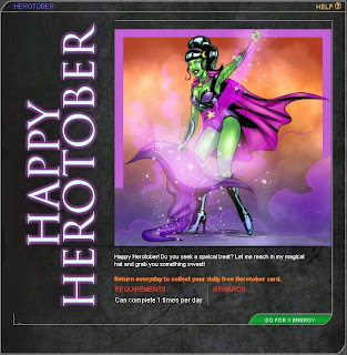 Happy Herotober from sexy green-skinned witch at Superhero City