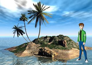 Desktop Wallpapers Ben 10 Ten Standing Tall in 3D Island desktop wallpaper