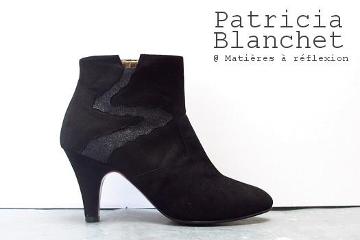 Low Boots Patricia Blanchet Deborah glitter noir