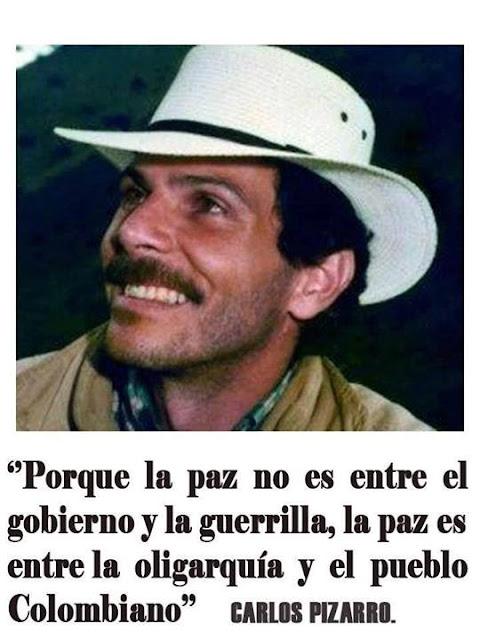 La paz no es con la guerrilla, es con el pueblo!