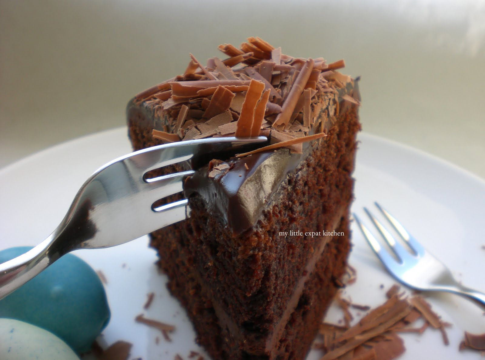 Rich Chocolate Cake With Ganache Frosting And Truffle-Egg Nest Recipes ...