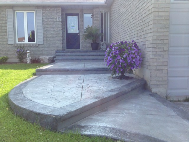 Aggregate Concrete Driveways In London Ontario  Brushed Concrete Driveways  And Sidewalks  Stamped Concrete Patios And Porches In London Ontario