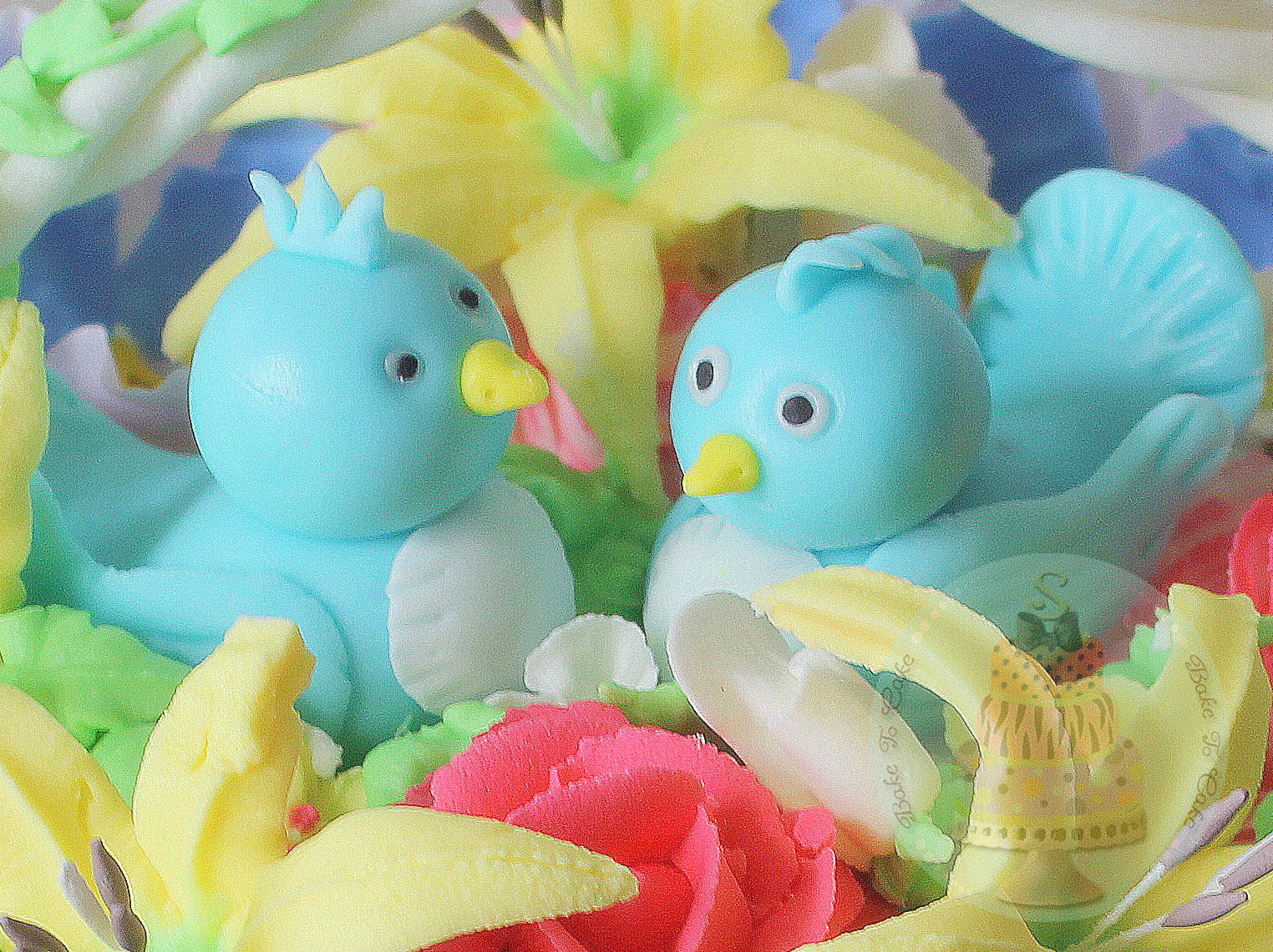 Cake With Fondant Bird : Bake to Cake: Fondant Bird tutorial