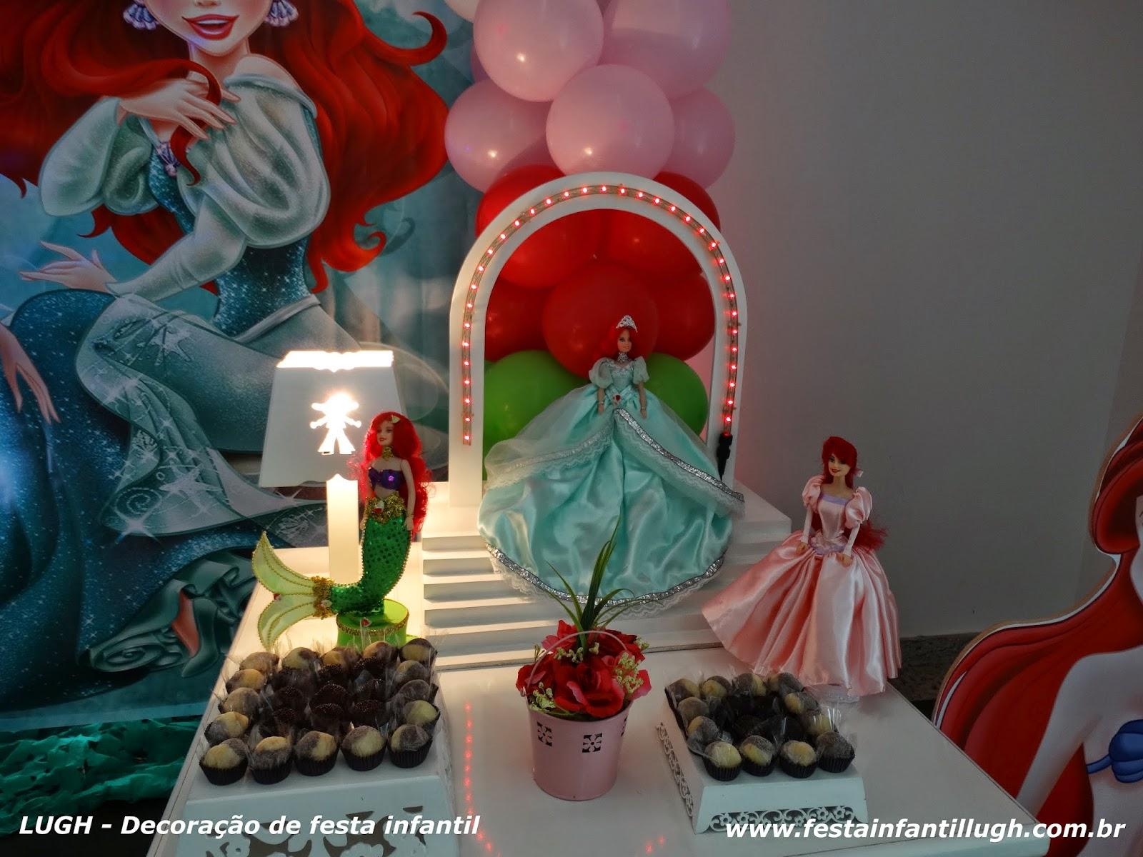 Tema da Ariel para aniversário de meninas