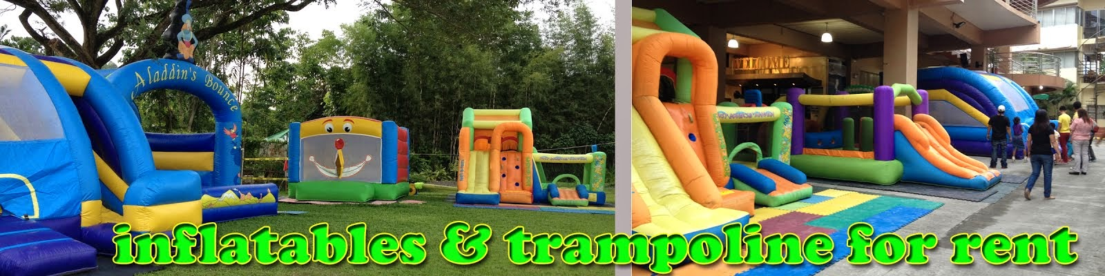 inflatables & trampoline for rent..