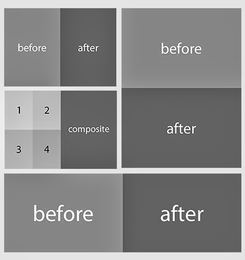 before after automated psd templates for adobe photoshop designeasy