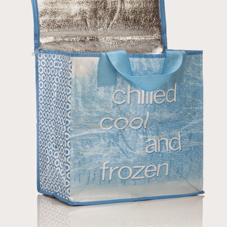 Organized reusable shopping bag set