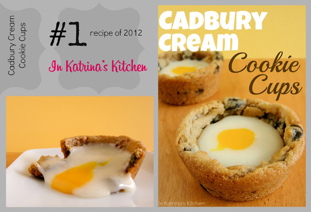 Cadbury Cream Cookie Cups Top #recipe 2012 inkatrinaskitchen.com @katrinaskitchen