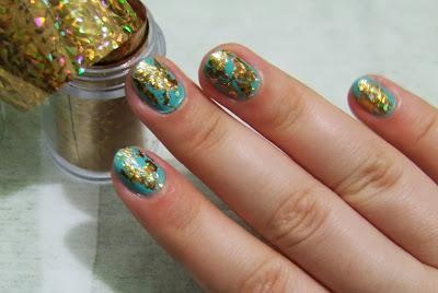 gold nail foil