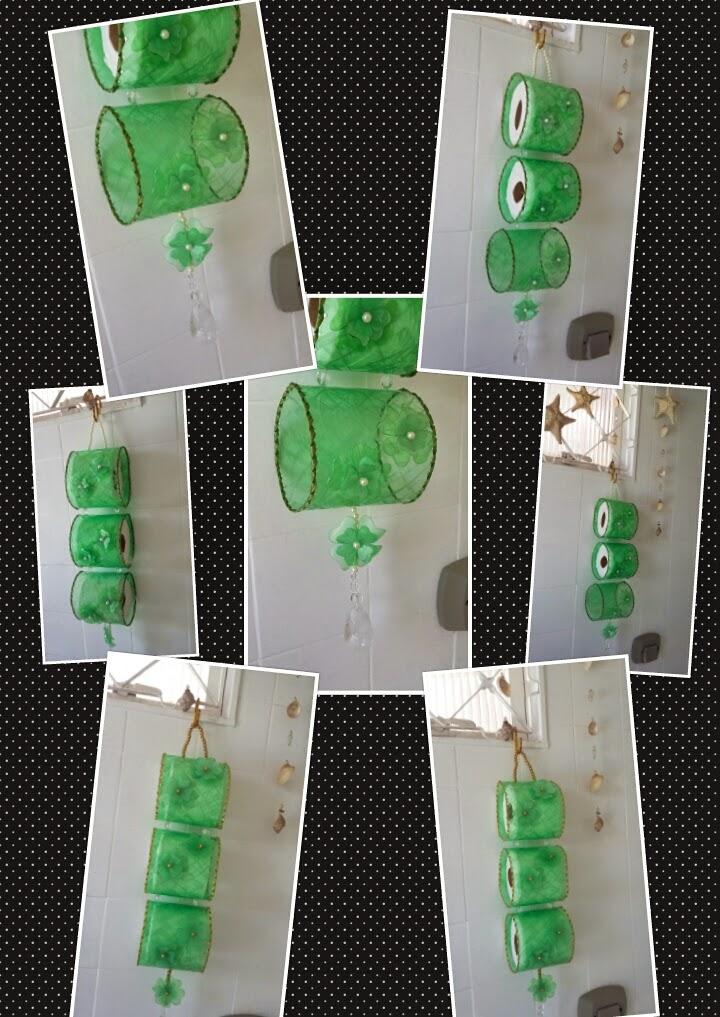 Dilamar coutinho fazendo arte com o descarte porta papel for Colgadores para papel higienico