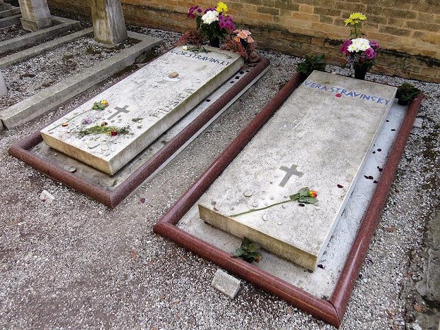 Graves of Igor Stravinsky and Vera Stravinsky, Игорь Фёдорович Стравинский, Isola di San Michele, Venice