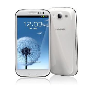 Samsung galaxy s3 mermer beyazı görünümü