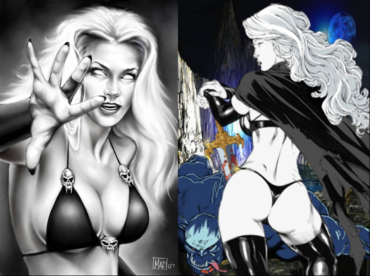 Lady death naked nude clip