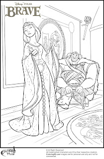disney brave king fergus and queen elinor coloring pages