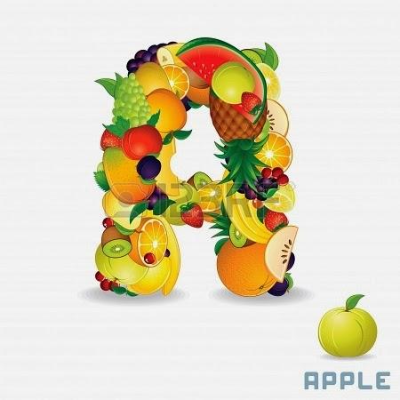 صور حرف a فاكهة