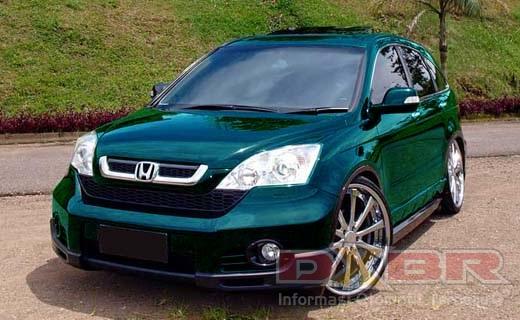 modifikasi Honda CRV warna biru