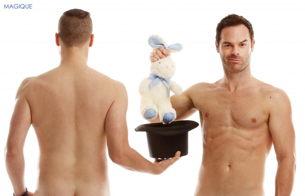 二人の全裸マジシャンによる、色んな意味で目が離せないマジック!
