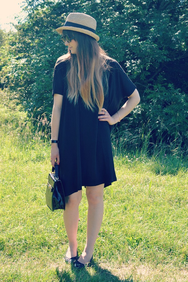 chanel shoes asos dress vintage bag asos sunglasses