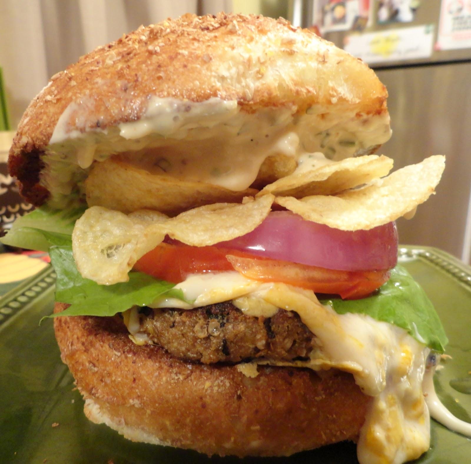 "VeganMoFo: Bobby Flay and The Eggplant Crunchburger | The ""V"" Word"