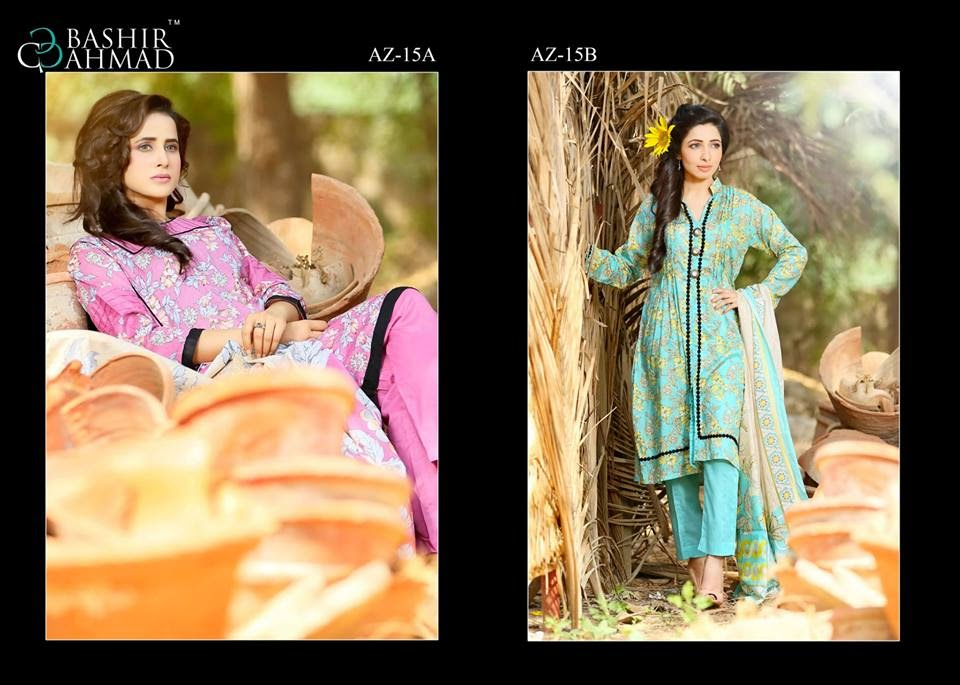 Azra Summer Lawn Dresses 2015 Vol- II by Bashir Ahmed Textiles