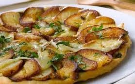 Tarta Tatin camembert y patatas