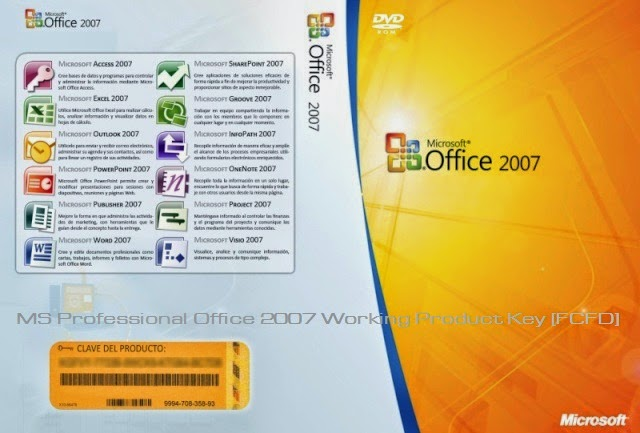 MS Professional Office 2007 Working Serial Key