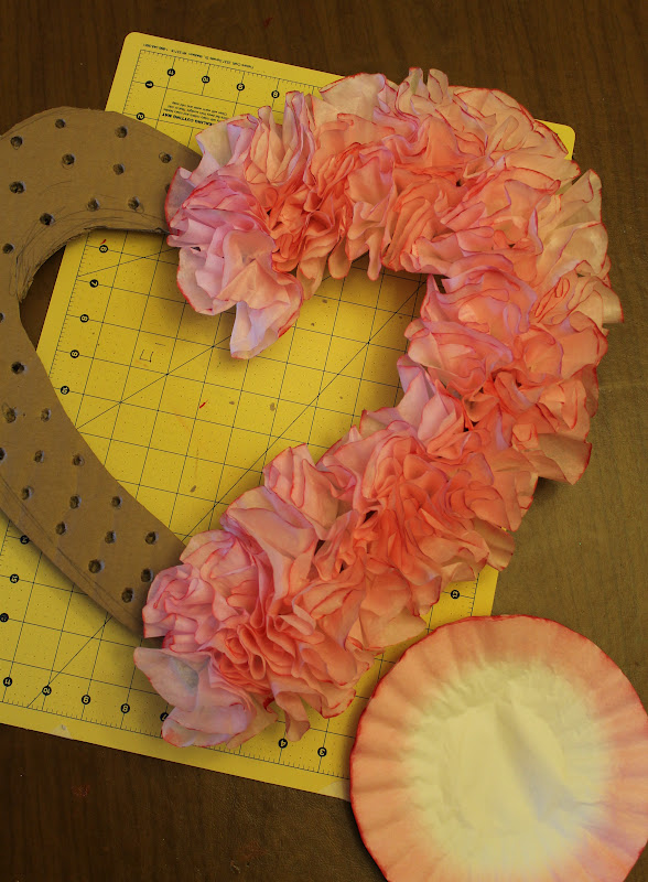Diy Heart Shaped Valentines Wreath With Coffee Filters Soccer