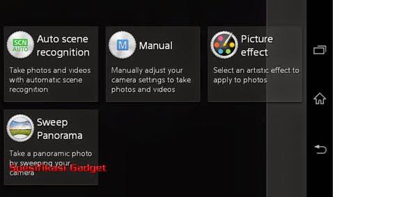 Fitur Kamera - Sony Xperia E1
