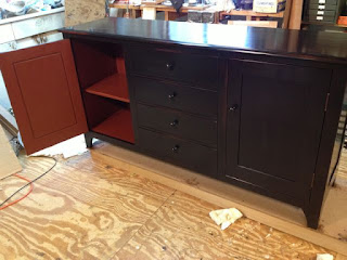 sideboard with milk paint finish by Timothy Clark, Cabinetmaker/Chairwright.