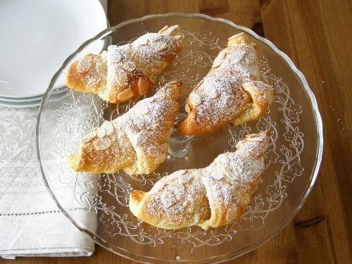 Vegan Frangipane Croissants