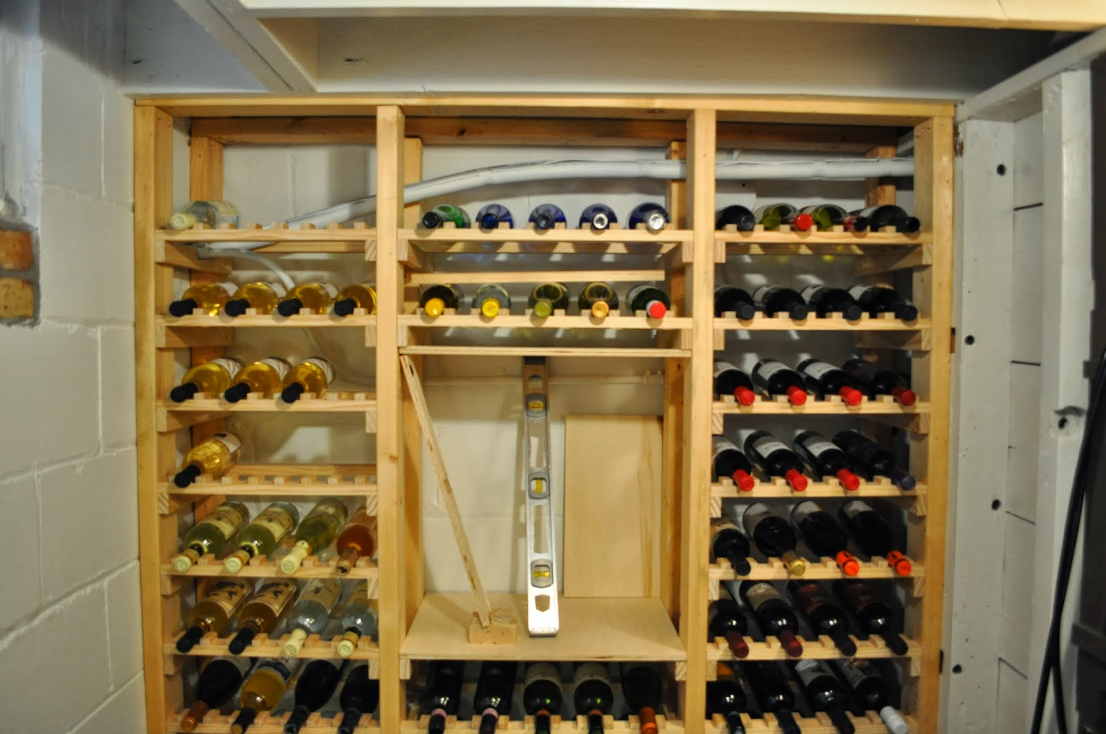 Wine Bottle Storage Angle Just So Lovely Our Wine Cellar The Beginning