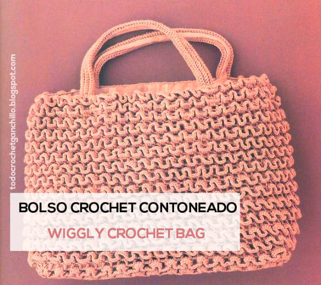 Bolso tejido en crochet wiggly o contoneado