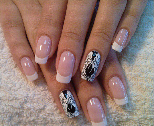 White and black nail styles for ladies