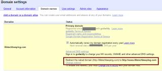 set naked domain redirect