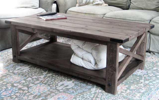 Diy square coffee table plans woodplans for How to build a rustic coffee table