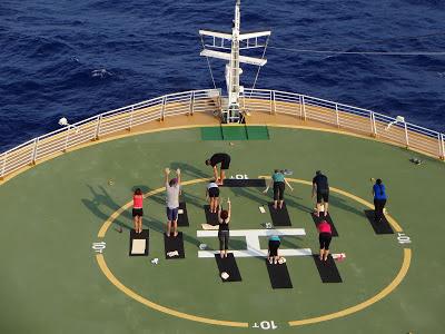 Oasis of the Seas Helipad Yoga