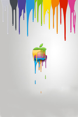 apple iphone 3 hd color painting wallpapers