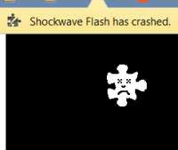 Google Chrome Flash crash