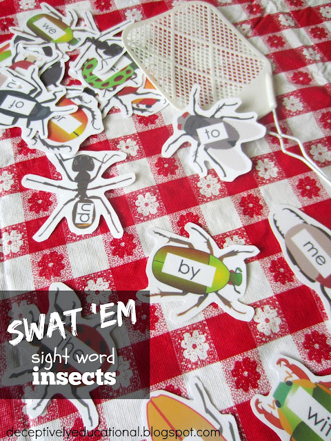 we word printable Word Swat the sight Educational: song Deceptively  {free Insects Sight