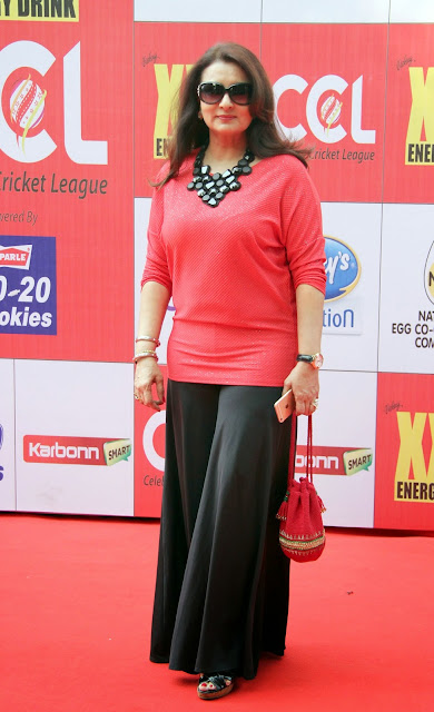 Celebrities Pictures at CCL Season 5 Mumbai Heroes Vs Veer Marathi Match CCL5  25.JPG