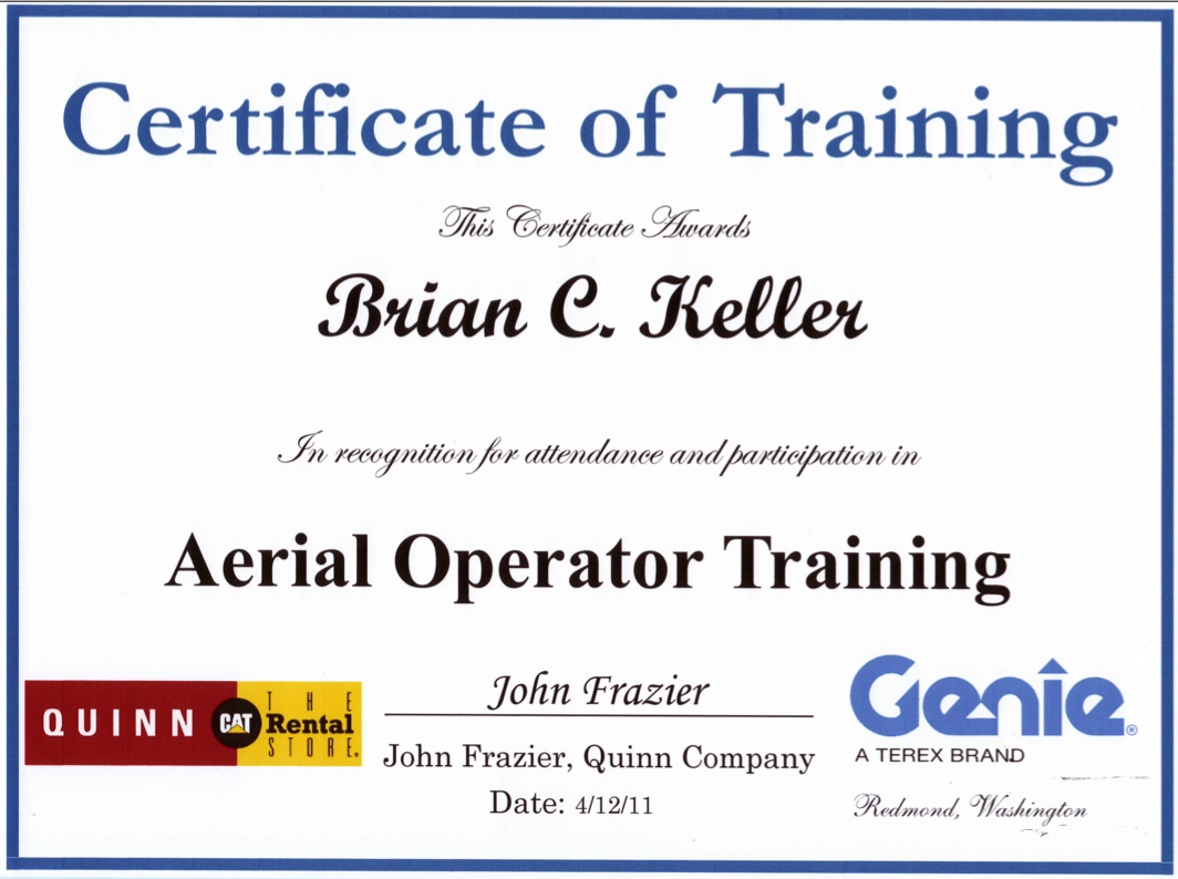 Uci sound design ironic no that the one guy who cant get in a genie and has a minor fear of heights has a training certificate as an aerial operator geniescissor lifts xflitez Choice Image
